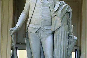 George Washington holding the fasces