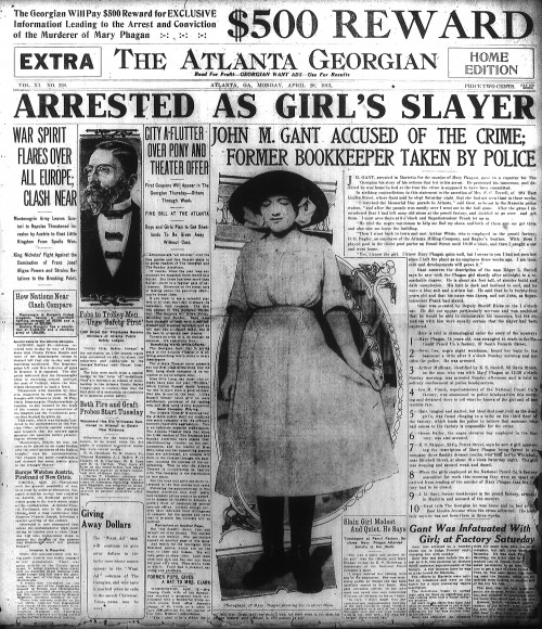 The arrest of Gantt was front page news.