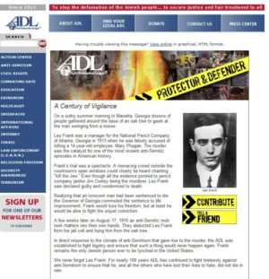 The Frank case is the ADL's pet cause.