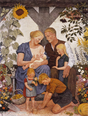 "Painting by Wolfgang Willrich entitled ""Family"", 1934."
