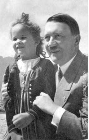 Adolf Hitler pictured with young girl
