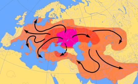 Indo European Language Expansion Map