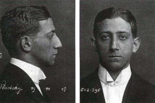 A pair of Stavisky's booking photographs