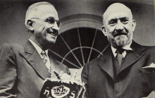 Harry Truman and Chaim Weizmann