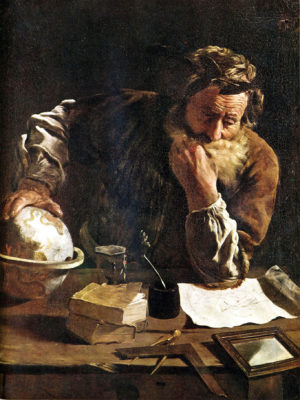 Domenico Fetti - Archimedes Deep in Thought (1620)