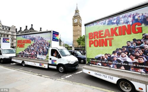 """The Brexit campaign's """"Breaking Point"""" poster"""