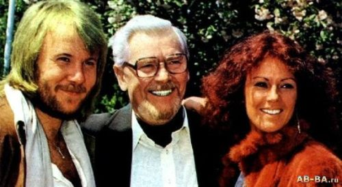 ABBA's Benny Andersson, Alfred Haase, & Frida