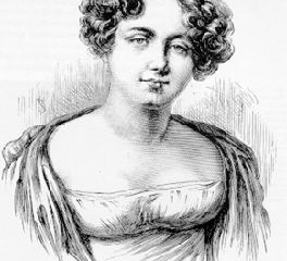 Franklin, Lady. Shown in 1816. Lady Franklin launched the long search for her missing husband.
