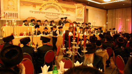 Member of the Haredi community of Antwerp in 2010, celebrating the foundation of the 33rd Jewish school in Antwerp