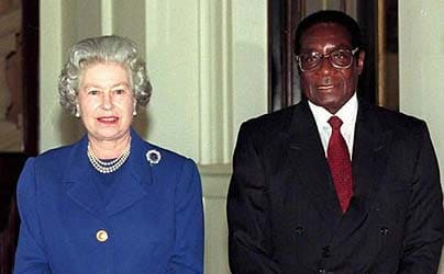 The Queen with Robert Mugabe