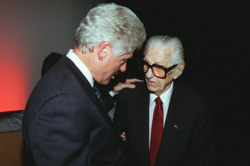 "Bill Clinton with Jewish ""rap"" mogul Lew Wasserman"