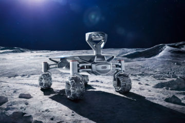 Conceptual image of the Audi Lunar Quattro. It'll be equipped with a 4 wheeled electrical drive chain, tiltable solar panels, rechargeable batteries, and high definition cameras.