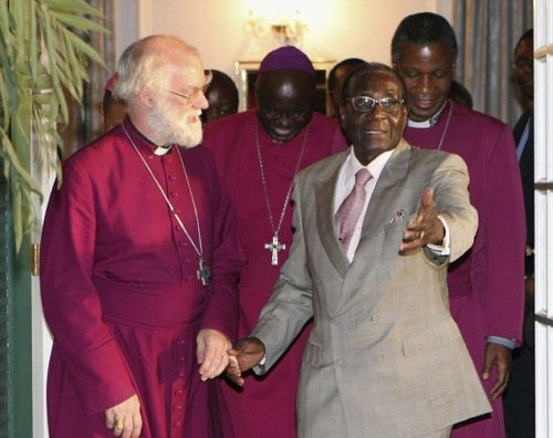 The Archbishop of Canterbury with Robert Mugabe