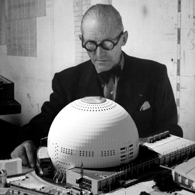 Le Corbusier and one of his designs