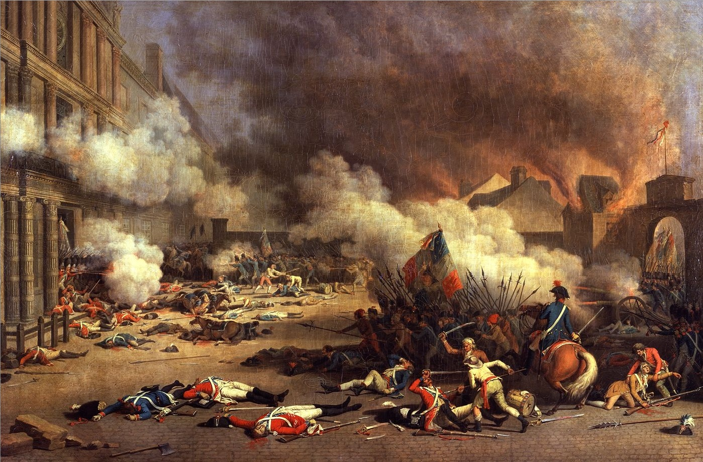 an analysis of the events leading to the french revolution between 1789 and 1799