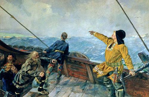 Christian-Krohg-Leiv-Eriksson-oppdager-Amerika-1893