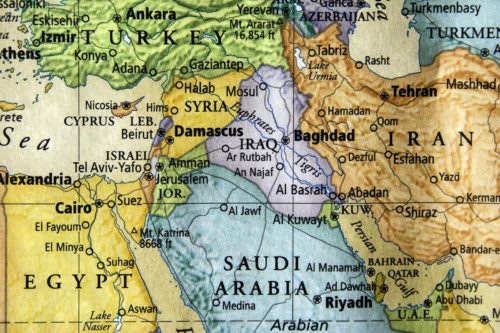 colored map of middle east Courtesy of Robert Hale shutterstockcom_220862011