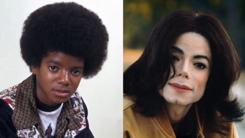 Michael Jackson, before and after