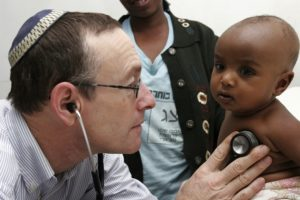 """""""A Jewish medical giant"""": American-born Dr. Rick Hodes, medical director of the American Jewish Joint Distribution Committee responsible for the health of Ethiopians immigrating to Israel. He was privately praised by Israeli officials for bringing birth control to blacks in Ethiopia."""