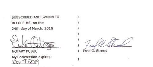 Fred's affidavit 3