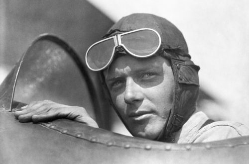 Lindbergh In Cockpit
