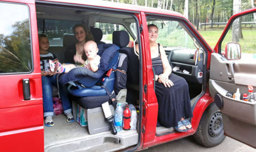 The family fled Germany in a camper van telling Russians they are scared for their lives.