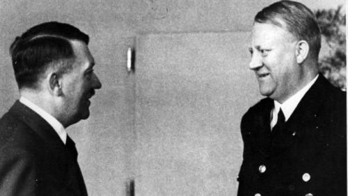 Vidkun Quisling with Hitler