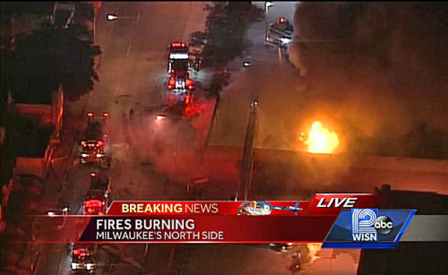 Milwaukee burns