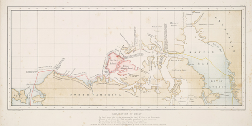 A map of the Northwest Passage, created in 1854.
