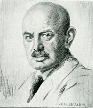 Dietrich Eckart, portrait by Karl Bauer