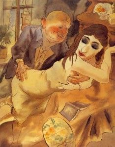 "Not approved under National Socialism: One of the least filthy and ugly pictures by degenerate ""artist"" George Grosz"