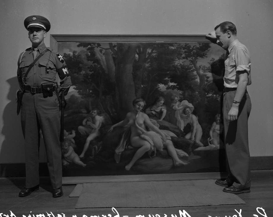 A December 1948 show at San Francisco's De Young Museum of some of the art plundered from the ransacked salt mines discovered in Bavaria by the occupying United States Army in 1945