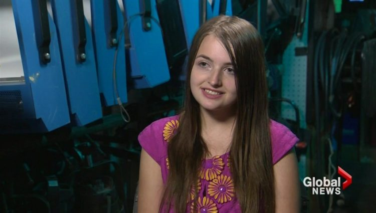 Evalion during her Global News interview