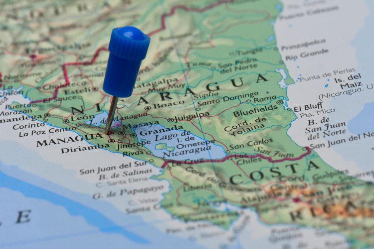 nicaragua-map-globe