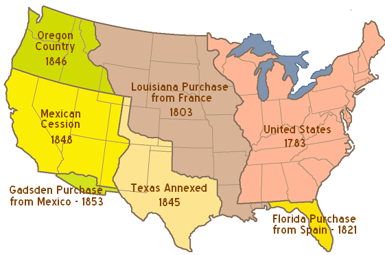 Early American Territorial Expansion A Primer From Dred Scott - Map of us in 1821