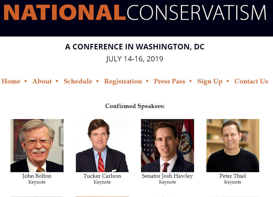 Image result for PHOTOS OF National Conservatism Conference