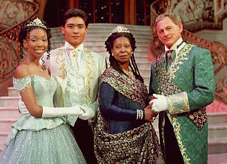 """A typical example of the """"colour-blind"""" casting was the 1997 Disney adaptation of Cinderella — in which a negress Queen (played by Whoopi Goldberg) — and a White king somehow managed to have a Filipino son, who ends up married to a negress Cinderella."""